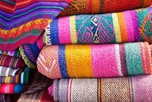 {Textiles} / Teysha products are made with hand woven Latin American textiles. We love the beautiful patterns and colors we find there, and we are inspired by textile makers around the world!
