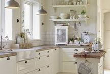 Kitchen Project / The kitchen project includes: a custom island or butcher block - pantry shelves in the laundry room - kitchen nook with banquette
