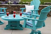 Woodtex Poly Outdoor Furniture / Furniture Made from Poly Lumber (which is made from recycled milk jugs!)