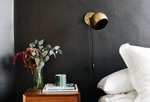BLACK, WHITE & GOLD BEDROOM / From glamorous to Scandinavian chic, this is a classic black, white, and gold bedroom inspiration board.