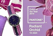 "Color of the Year / ""Radiant Orchid: neither pink nor purple, blooms with confidence and magical warmth that intrigues the eye and sparks the imagination.""- Armario / by Winky Designs - Fun & Unique Fashion Accessories"
