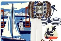 Nautical Inspiration / All nautical inspired ideas from nails and accessories to clothing and home decor.  / by Winky Designs - Fun & Unique Fashion Accessories