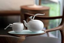 Ceramic | Teapots / a collection of ceramic teapots as well as some pitchers and other containers