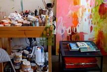 Creative Spaces / Images of people's creative spaces to help me refine my own.  / by Saffron Craig
