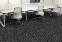 """2nd Power & SquareUp"" (Powerbond) Tandus Centiva Carpet designed by Jhane Barnes / 2nd Power & SquareUp  Powerbond simulations"