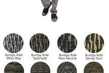 Sock and pants that Co-ord / Charts pairing Jhane Barnes socks with pants.
