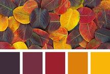 Palettes - Warm tones / inspiration for jewelry making and home decor