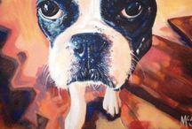 Pet Paintings / http://poochesandpaints.etsy.com / by Kaitlin McShea