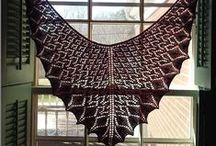 Student Work from Lace Shawl Design / Check out the amazing pieces created by my students using my Lace Shawl Design Craftsy class (http://www.craftsy.com/ext/MiriamFelton_86_H) / by Miriam Felton