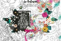 Scrapbook Layouts w/ Lauren Grier goodies / Digital Scrapbooking layouts created using Lauren Grier Designs Products