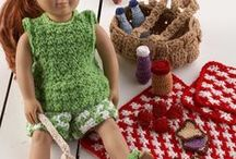 """American Girl Crochet Patterns / A collection of 18"""" American Girl Doll crochet patterns  available at Maggie's Crochet. These crochet patterns are well designed for your little girl's enjoyment. The designs vary from casual wear to wonderful party outfits. The instructions are well written for you to easily follow. / by Maggie's Crochet"""