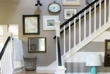 Hallway, Entry, Staircase Ideas / Pretty and creative ideas for staircases, halls and entry / foyers
