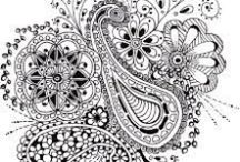 Zentangles / Also, Zentangles-inspired pictures. See: http://tanglepatterns.com/zentangles for a detailed explanation / by Barbara Duke