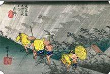 "Japan UKIYOE − Tokaido53tugi / I was mapping the Ukiyoe ""The Fifty-three Stations of the Tōkaidō"" to represent Japan."