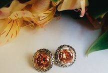 Amber Jewelry / Genuine Baltic Honey and Green Amber Rings, Necklaces and Earrings / by Eve's Addiction