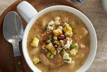 Soups, Stews, Gazpachos / Nothing warms you up better than curling up with a warm cup of soup. Find the perfect soup or stew recipe to enjoy on a cold winter day or serve as a side with a family dinner.