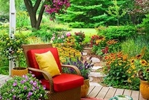 """Gardens, Woods, and Outdoor Living / It has been said that """"One is nearer God's heart in a garden than anywhere else on earth,"""" and I find that to be true. In nature can be peace."""