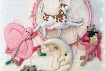 Nursery Mobiles by Lilliput Loft / Handmade nursery mobiles made from felt