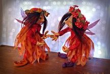 Faeries and Pixies by Lilliput Loft / One of a kind elves and faerie art dolls