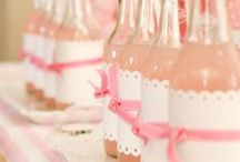 Pink and white birthday party ideas