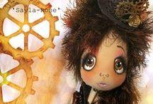 Urchin Art Dolls by Lilliput Loft / Cloth dolls by Vicki Sayer at Lilliput Loft