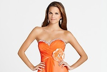 Sweet Orange Prom Dresses