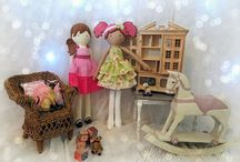 Poppet Dolls by Lilliput Loft / Poppet cloth dolls created by Jill @ Lilliput Loft