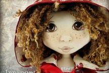 Innocents & Boutique Sirens by Lilliput Loft / Cloth dolls by Jillian Kerr at Lilliput Loft