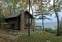 Cottages, Cabins, and Tiny Houses / Photos, floor plans, and images of small homes, including ideas for starter and retirement homes.