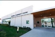 Thornhill Community Centre / This centre features twin ice rinks with a heated viewing platform in the ice rink seating area that is accessible to persons using mobility devices, a therapy pool, two squash courts and a cycle studio.  Thornhill Community Centre also contains a gym, one of three City of Markham Health and Fitness Centres, a dance and wellness studio, and the largest of the city's halls for rent, which can hold up to 500 people.