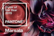 2015 Pantone Color - Marsala / Pantone has long been as the authority on color and trends and their choice for the 2015 Color of the Year is Marsala 18-1438. The impactful, full-bodied qualities of Marsala make for an elegant, grounded statement color when used on its own or as a strong accent to many other colors.