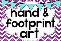 teaching: hand and footprint art