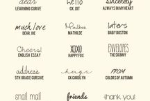 Graphic Design: Fonts / by Cassandra Swenson