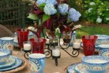 Firework Florals / Get inspired by the colors of your garden when putting together this floral filled table!  / by Pfaltzgraff