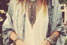 Bohemian, hippie, festival / boho chique style