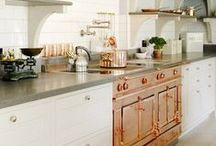Copper, Gold, Brass & Silver at Home. / Gorgeous tones copper, gold, brass, and silvers. Metals are a must for every home! They add so much beauty and they're reflective! HELLO more light!
