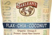 Barlean's Flax-Chia-Coconut Blend / Organic Ground Flax, Organic Chia Seed and Organic Coconut combined to make the perfect blend of nutrition and delicious goodness. 2,330mg of Omega-3s and 3g of Fiber per serving! USDA Organic, Raw, Non-GMO and Vegan! Available in a 12 oz. resealable pouch. MSRP $11.99 Available for purchase online at http://www.barleans.com