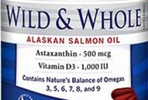 Barlean's Wild & Whole Alaskan Salmon Oil / Wild caught in the icy cold, pristine waters of Alaska, Full spectrum of healthful Omega-3s, 500 mcg Super ORAC Antioxidant Astaxanthin, 1,000 IU Vitamin D3, Unrefined Salmon Oil, Natural Triglyceride Form - Highly Absorbable & Easily Digestible, Sustainably Caught. Available in 90 ct. and 180 ct.  Available for purchase online at http://www.barleans.com
