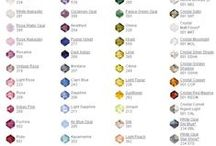Crystal Bead Color Charts