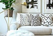 Dream Home Makeover / home decor, interior design, inspiration, renovation, luxurious living rooms, neutral living rooms, black and white, velvet, navy blue couch, chesterfield, moroccan rug, white walls, grey walls,