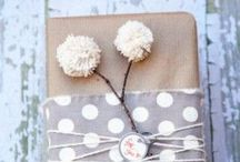 W R A P it up! / From brown paper packages tied up with strings to blinged out packages these are some inspirational ways to present your packages when giving.