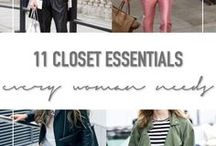 Closet Essentials / closet essentials, capsule wardobe, what you need in your closet, 11 items every woman needs, what you need in your wardrobe, versatile clothing items, boyfriend jeans, how to style, striped shirt, white blazer, leather jacket, leather skinny pants, chambray shirt, leather mini skirt, most versatile items in closet, organize your closet, what you need, streamline your wardrobe