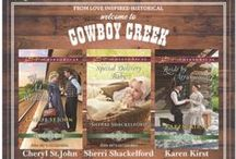 Cowboy Creek: Love Inspired Historial Trilogy / Cowboy Creek Needs Women  Cheryl St.John, Sherri Shackelford & Karen Kirst are the authors of a new Love Inspired Historical continuity series, scheduled to release April, May, June 2016.