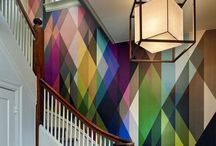 Banish Boring Walls! / Have a boring wall? Not for long after you check out this rad inspiration for awesome ways to dress up your walls! Wallpaper, stencils, painted designs, wood, etc.