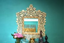 Teal & Turquoise Inspiration / Creative and inspiring uses of shades of teal and turquoise in decor and design.
