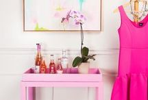 Pink Inspiration / From pops of pink to all-out-celebrations of its many hues, this board is filled with pink inspiration for decor and design.