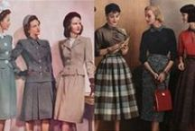 Fashion - 1940s-1950s / The conservative decades of pencil-skirt suits and poodle skirts and bobby sox.
