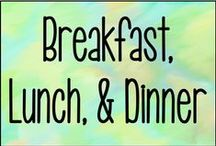 Breakfast, Lunch & Dinner / Recipes solely for breakfast, lunch, or dinners. Or anything in between.