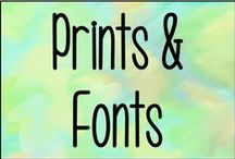 Prints & Fonts / Different prints and fonts for the computer.