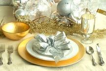 Uudenvuoden kattausideoita / Table Settings for New Year's Eve / Inspiraatiota, ideoita ja askarteluohjeita uudenvuoden juhlintaan!